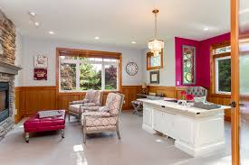 Wainscoting Office Pink Office With Wood Wainscoting Home Office Transitional And