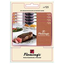 fleming s gift card flemings 100 multi pack 4 25 gift cards sam s club