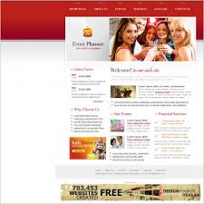 event planner template free website templates in css html js