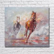 running horse chinese oil painting copy easy painting pictures