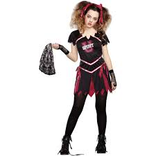 Zombie Halloween Costumes Adults Zombie Cheerleader Teen Halloween Costume Walmart