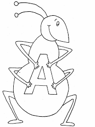 letter coloring pages ant coloringstar
