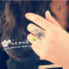 vintage rose rings images Unique free shipping fashion party punk ring women girls jpg