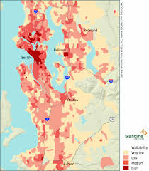 seattle map by county map of walkable king county wa sightline institute
