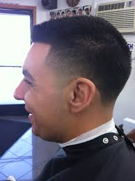 taper cut with line up compliments of magdalenos barber shop