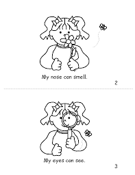 5 senses coloring pages cecilymae
