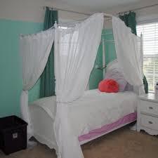 white window curtain ideas feat elegant princess canopy bed design