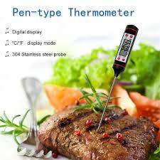 thermometre sonde cuisine tp101 thermomètre de cuisson en acier inoxydable sonde numérique