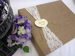 rustic wedding scrapbook rustic wedding scrapbook burlap and lace engraved heart