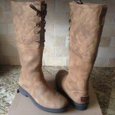 ugg womens quilted boots ugg australia s leather 5 5 us shoe size s ebay
