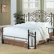 Bed Headboard And Frame by Amazon Com Coaster Queen Size Antique Gold Finish Metal Bed