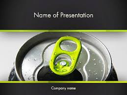 energy drink can powerpoint template backgrounds 14297