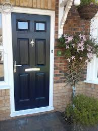 black 4 panel 2 square global composite door flag window deco