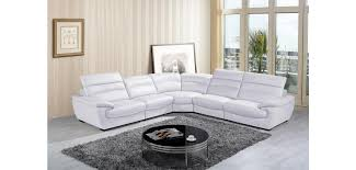 Sectional Sofa Sale Free Shipping by Divani Casa Hana Modern Sectional In White Leather