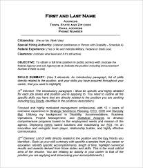 Government Job Resume by Usa Resume Builder Resume Cv Cover Letter Government Sample