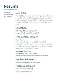 Resume Hobbies And Interests Sample Resumes U0026 Example Resumes With Proper Formatting Resume Com