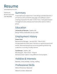 create resume templates free resume builder resume