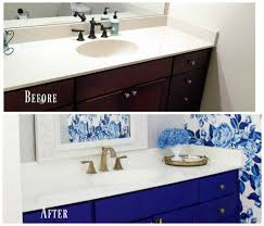 how to paint existing bathroom cabinets diy painted bathroom countertop and sink 2 bees in a pod