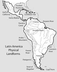 Labeled South America Map by Map Of East Coast In America At Maps
