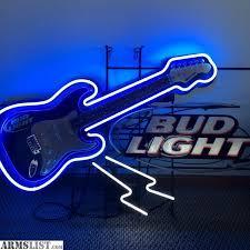 bud light neon signs for sale armslist for sale trade bug light neon sign best offer