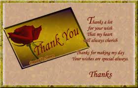 thanks for your special wishes free for everyone ecards greeting