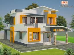 simple contemperory home design of 2500 suits a 7 cent plot can