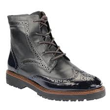 womens blue boots canada ely s fashion wider fit brogue boots in navy blue shoes