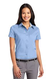 light blue button down shirt women s port authority ladies short sleeve easy care shirt womens button