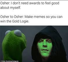 Making Memes Online - make memes so you can win the gold logie osher gunsberg starts