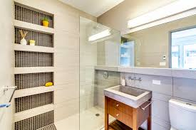 Built In Shelves In Bathroom Shower Shelves Built In Bathroom Contemporary With Concrete Sink