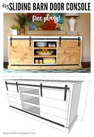 how to build a tv cabinet free plans diy sliding barn door console free plans that s my letter barn