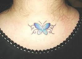 63 beautiful neck butterfly tattoos