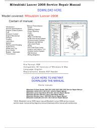28 2002 mitsubishi lancer service manual pdf 58059