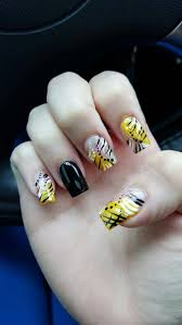black and yellow nail art pittsburgh steelers themed nails my