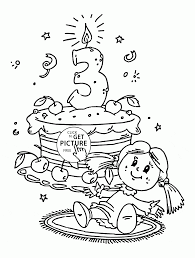 3rd birthday coloring page for kids holiday coloring pages