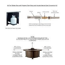 Natural Gas Fire Pit Kit Ow Lee 42