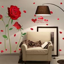 aliexpress com buy romantic red rose wall sticker flower