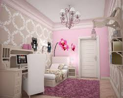 beautiful teenage bedroom ideas using pink accents wall and