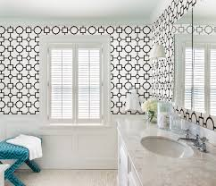 black and white wallpaper for bathroom home design ideas
