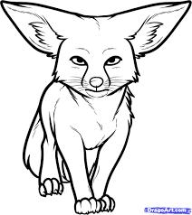 arctic fox clipart desert fox pencil and in color arctic fox