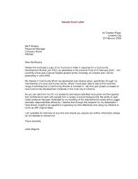 Community Resume Good Cover Letter For Resume Sample Resume Cover Letter Curriculum