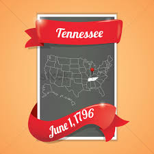 Tn State Map by Tennessee State Map Poster Vector Image 1536371 Stockunlimited