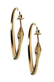 eddera earrings gold snake hoop earrings 18k gold plated vintage inspired eddera