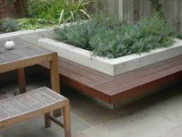 Garden Bench Hardwood Concrete Block Raised Garden Bench Home Pinterest Benches