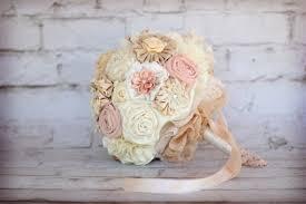 wedding bouquet fabric rustic bridal bouquet deposit shabby chic