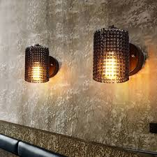 modern wall lamps sconces iron bicycle chain for restaurant