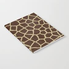 giraffe pattern notebook giraffe print pattern notebook by mesutok society6