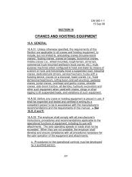usacoe safety manual c 16 crane ops crane machine leak