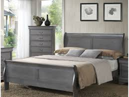 Grey Furniture Bedroom Lifestyle 4934 Gray Sleigh Bed On Sale In Myrtle
