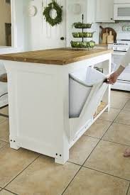 kitchen island with trash bin the basic steps involved in the building of diy kitchen island